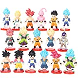 16 Pack Dragon Ball Z Cake Toppers,Dragon Ball Toy Collection Gift,3' Goku Figures Cake Toppers Set,Dragon Ball Z party supplies