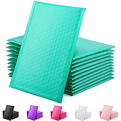 GSSUSA Teal Poly Bubble Mailers 6x10 Padded Envelopes #0 Shipping Envelopes Bubble Mailers Self Sealing Padded Envelope 25Pack