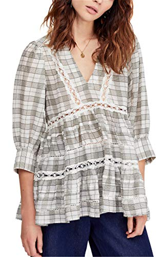Free People Time Out Lace Tunic Top Dress (S) Ivory