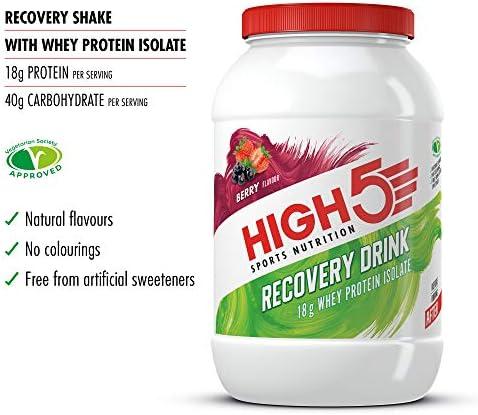 HIGH5 Bebida de Recuperación Bolsitas de Proteína (Bayas, 1 ...