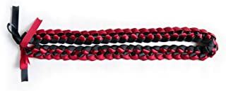 A Tangible Thought Ribbon Lei - Braided Necklace - Red & Black