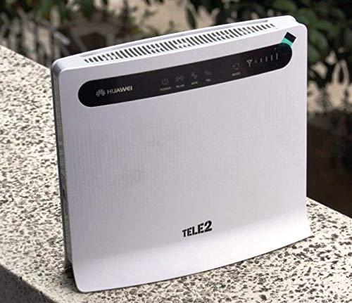 Modem Router Huawei B593S-22 TELE2 4G LTE Cat.4 Fino A 150MBPS in DL - WiFi + 4 LAN - 2 Porte TELEFONICHE RJ11 - ATA VOIP - Versione con 2 ANTENNE Incluse!!