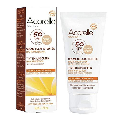 Acorelle Crema Facial Color Apricot Spf 50 50Ml. 50 ml