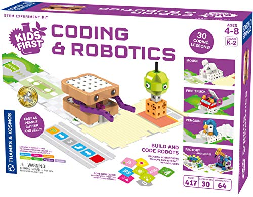 Kids First Coding & Robotics | No App Needed | Grades K-2 | Intro To Sequences, Loops, Functions, Conditions, Events, Algorithms, Variables | Parents' Choice Gold Award Winner | by Thames & Kosmos