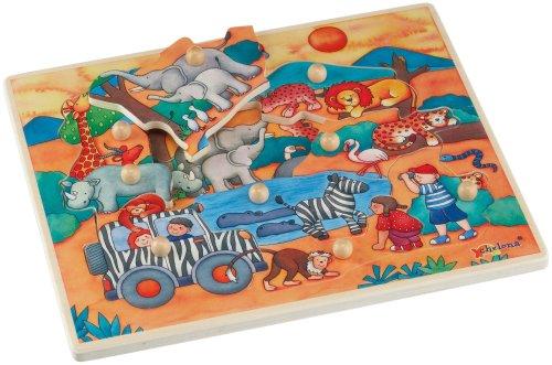 Chelona - Puzzle para niños (9 Piezas), diseño de Safari