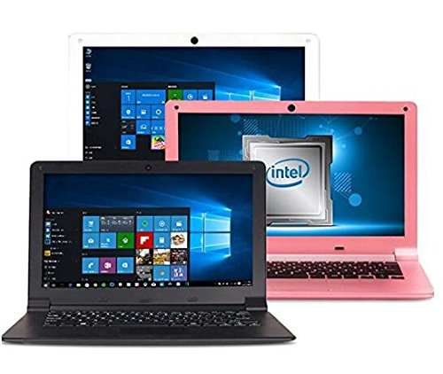 FANCY CHERRY® HD Ultrabook de 11.6 Pulgadas Laptop Computadora portátil Windows 10 Quad-Core Intel 1.44GHz 2GB RAM 32GB eMMC Almacenamiento USB WiFi Cámara HDMI (11.6 Pulgadas 32 GB, Blanca)
