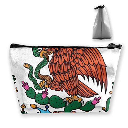 Multi-Functional Print Trapezoidal Storage Bag for Female Mexico Flag Eagle Snake