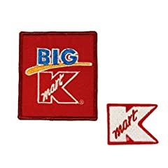 """Set of 2 Different New Embroidered Iron On Patches. The size of the left patch is approximately 3"""" wide and 3 1/4"""" tall."""