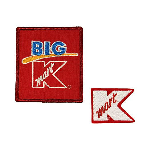 Set of 2 Kmart Badge Patches Uniform Employee Tag Embroidered Sew On Applique