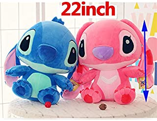 Best Quality - Stuffed & Plush Animals - inch Height Giant Large toys Lilo Stitch Stuffed stich Animal Doll Plush Baby Soft Toys Pillow for girl boy Birthday gift - by Pasona - 1 PCs