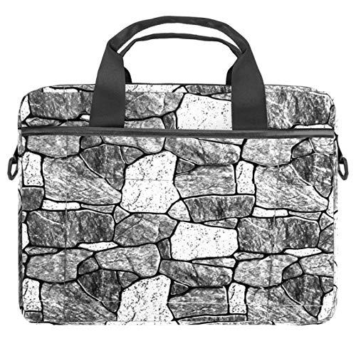 EZIOLY Brick Wall Texture Fondo Laptop Messenger Bag Bandolera Bandolera para portátil de 13 13.3 14 pulgadas Laptop Tablet Protect Tote Bag Case