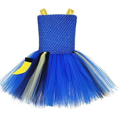JJAIR Ballettröckchen-Rock für Mädchen, Prinzessin Kleid Clown-Fisch-Kleid Nemo Dolly Cosplay Kleid Bühnenkostüm,130
