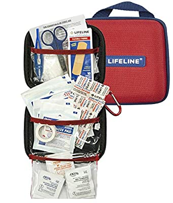 Lifeline 30 Piece First Aid Emergency Kit - Small and Compact Size - Ideal for Camping, Sporting Events, Hiking, Cycling, car as Well as Home, School and Office