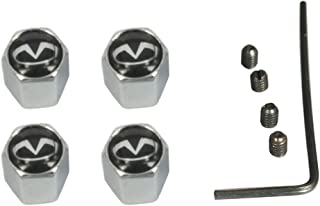 AEMULUS 4pcs set Black Anti-theft Car Wheel Tire Valve Stem Caps Tire Decoration For Car Auto Infiniti