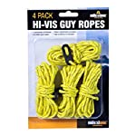 Milestone Camping Camping 20540 Hi-Vis Guy Ropes ~ Pack of 4 ~ Yellow, 4 Pack