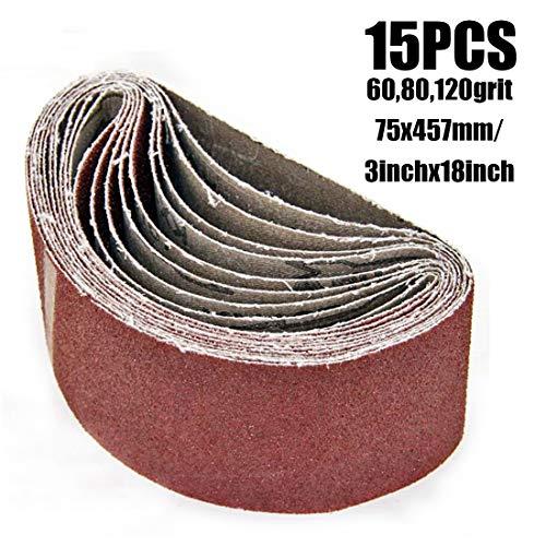 Find Bargain Xucus 10Pcs 60/80/120 Grid Sanding Belt Polishing Tool For Wood Plastc Metal Gypsum For...