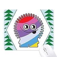 宇宙人と外国人の虹 オフィスグリーン松のゴムマウスパッド