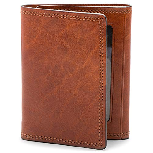 Bosca | Men's Double I.D. Trifold Wallet w/RFID Blocking in Dolce Leather