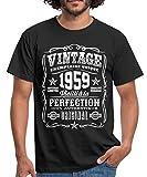 Vintage 1959 Cadeau Anniversaire 60 Ans T-Shirt Homme, L, Noir