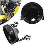 7' 7 Inch headlights Housing bucket for Harley Dyna, Iron 883 Upgrading to 7 Inch Headlight or Other Motorcycle need to upgrade to 7 inch headlight, Universal Housing for 7 inch headlight(black)