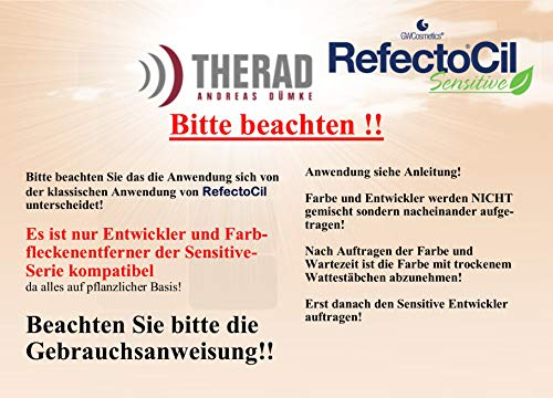 RefectoCil Sensitive Lash and Brow Tint 15 ml, Dark Brown by Refectocil