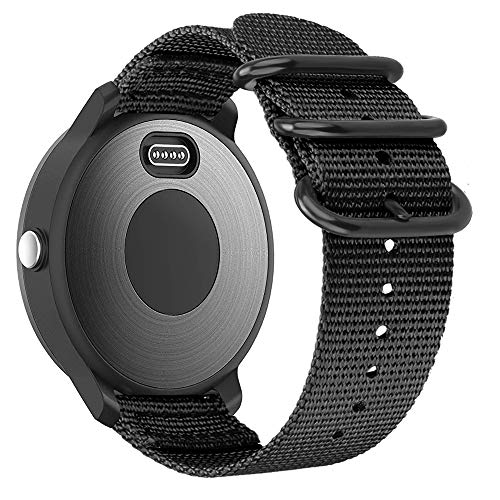 Fintie Band Compatible with Garmin Vivoactive 3, 20mm Soft Nylon Replacement Strap Band Compatible with Garmin Vivoactive 3 / Vivoactive 3 Music / Forerunner 245 Music / Forerunner 265 Music Smartwatch (Black)