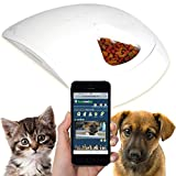 Feed and Go Smart Pet Feeder 2018 Model Now With iOS/Android Apps. Built In Webcam. For Wet/Dry...