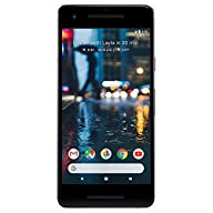 Google Pixel 2 64GB Unlocked GSM/CDMA 4G LTE Octa-Core Phone w/ 12.2MP Camera - Just Black Front Screen Display