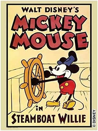 Buffalo Games Disney Vintage Poster Steamboat Willie 1026 Piece Jigsaw Puzzle by Buffalo Games