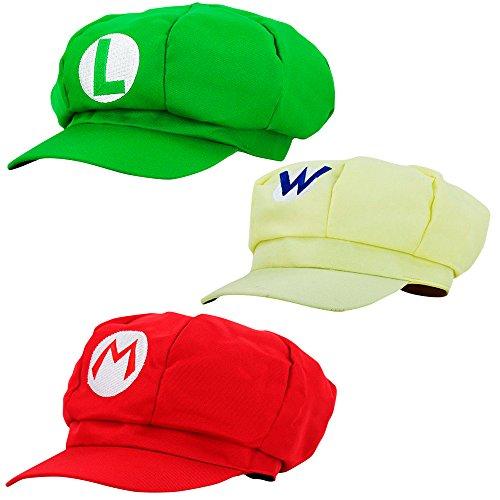 Super Mario Gorra Luigi Wario - Disfraz de Adulto y Niños Carnaval y Cosplay - Classic Cappy Cap