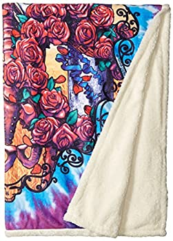 Liquid Blue Men s Grateful Dead 30th Anniversary Coral Fleece Throw Blanket multi 50  X 60