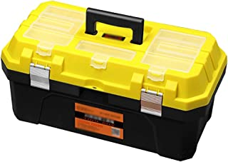Xuan Yuan Tool Storage Box-Environmental Material Home Multi-Function Repair Box car Parts Box Plastic Suitcase Double-Layer Toolbox Aluminum Buckle Tool Boxes (Size : 410x220x200mm)