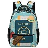 AMEILI Sacs à dos scolaires pour filles et garçons Sacs à livres pour enfants ,Voyage autour du monde