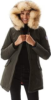 Women's Duck Down Jacket Ladies Padded Long Thicken Parka Fur Hood Winter Outwear Warm Overcoat