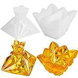 Chstarina Resina Epoxi Transparente de Bricolaje Pirámide,Pirámide de Silicona Molde de Resina Almacenamiento de Resina Epoxi de Silicona Transparente Silikonform para Fabricación DIY Artesanía