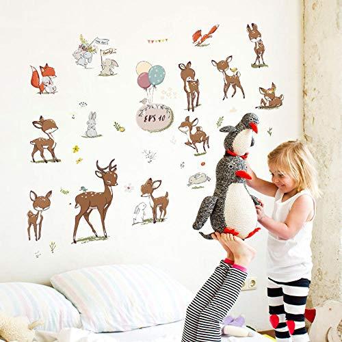 SUNER-EUR Sika herten stickers kast koelkast stickers baby kamer kleuterschool decoratieve muur stickers