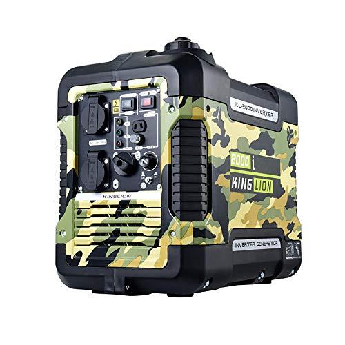 qiwangsheng Generador Electrico Portatil Generador para Camping Generador De Gasolina Ultra Silencioso Exterior Pequeño Inversor Digital-Conversión De Frecuencia Digital Muda De 2Kw (Camuflaje)