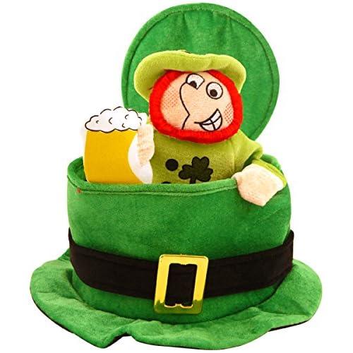 St Patrick's Day Novelty Fancy Dress Leprechaun Man Top Hat