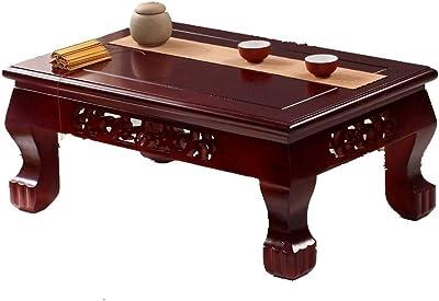 RANRANJJ Coffee Table Solid Wood Bay Window Table Tatami Coffee Table Modern Simple Low Table (Size : 50 * 40 * 28cm)