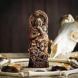 AMYZ Estatua de Resina de Dios nórdico,panteones escandinavos,estatuilla de Dioses nórdicos,artesanía,mitología vikinga,Vitrina de Vino para el hogar,estantería para Libros,Escultura,oramento,esc