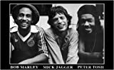 Poster Bob Marley, Peter Tosh, Mick Jagger, 96,5 x 66 cm