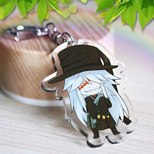 Haushele OFD Anime Black Deacon Keychain Transparente Schlüsselanhänger Dekoration Anime Acryl Schlüsselanhänger Geschenk-Kollektion(H04)