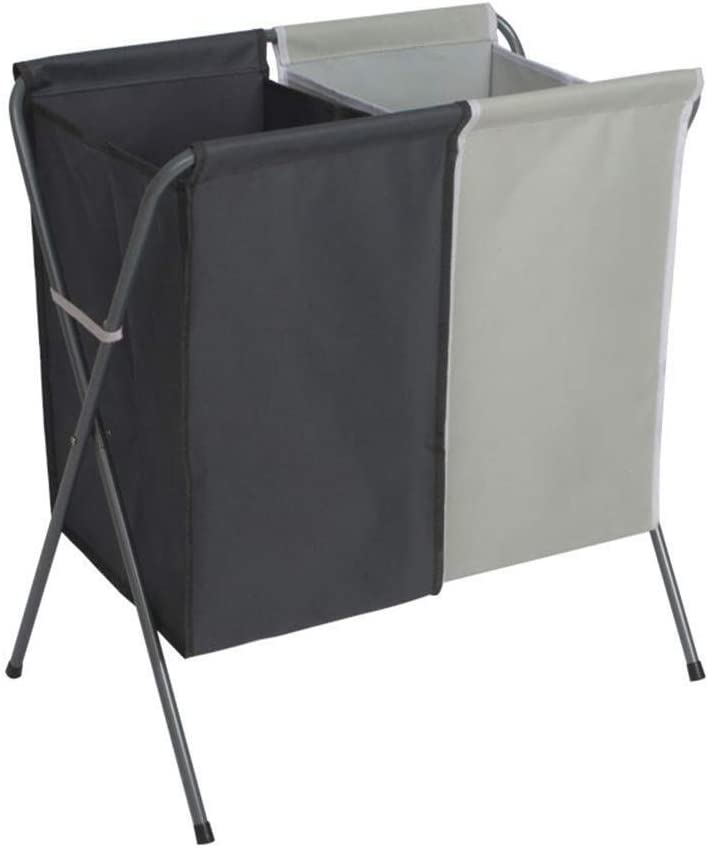 Sale price Basket 2-Bag Collapsible Colorado Springs Mall Laundry Hamper - Heavy Bas Duty