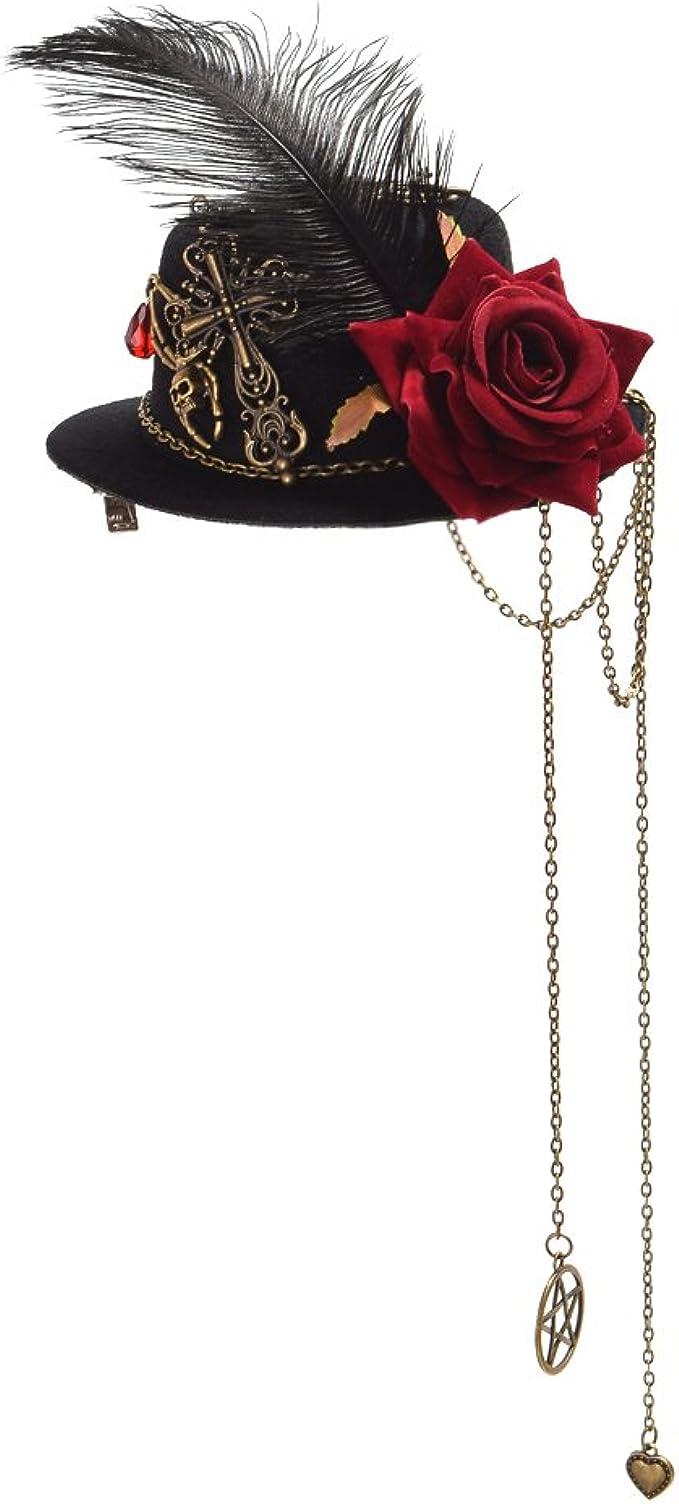 339 opinioni per GRACEART Vestitino Mini Top Cappello con Croce Teschio Cappello Capelli Clip