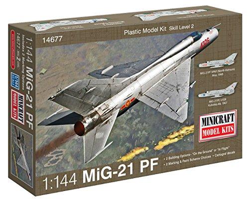 Minicraft Models Dempsey Designs Morceau modèles Echelle 1 : 144 modèle Russe mig-21 PF Kit