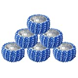 elite DECORIO Blue Beaded Napkin Rings Holder Wedding Party Banquet Dinner Décor Handmade Set