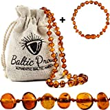 Best Amber Teething Necklaces - Baltic Amber Necklace and Bracelet Anklet Gift Set Review