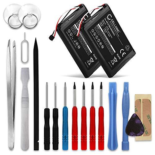 CELLONIC 2X Batería Premium Compatible con Garmin Edge 800 / Edge 810 / Edge Touring, KE37BE49D0DX3 1000mAh + Juego de Destornilladores Pila Repuesto bateria