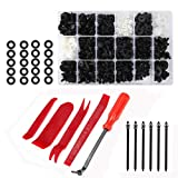 Semoic 446 Pcs Car Retainer Clips, Auto Plastic Clips & Fasteners Kit with Fastener Removal Tool for Bumper Bar, Trim Panel and Dashboard
