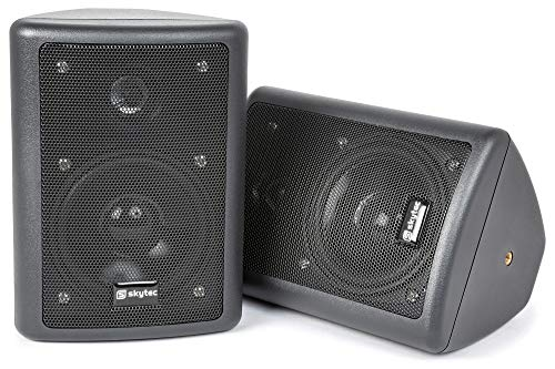 Skytec Conjunto de altavoces stereo, 2-vias, 75W max, Negro - Pareja
